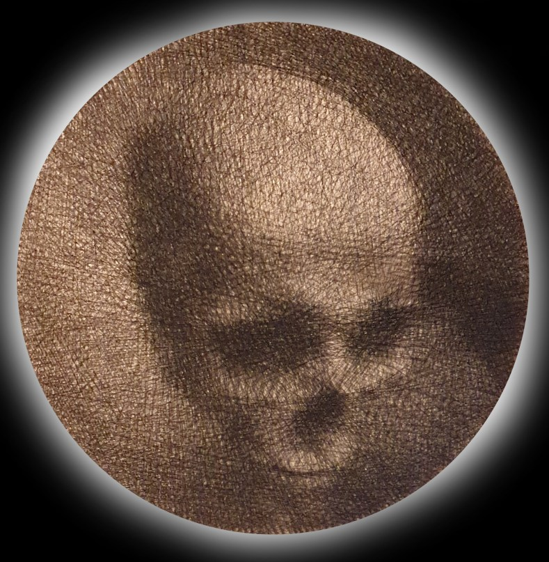 A string skull by Perspicere for Lost and Found at BSMT Space