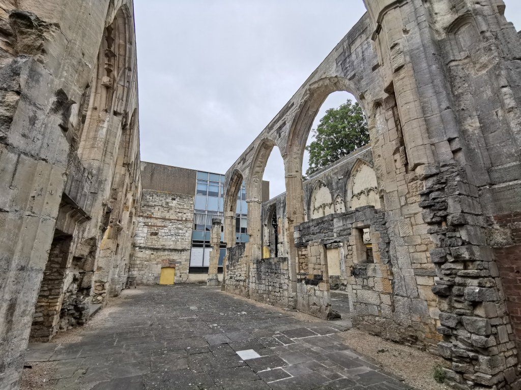 The ruins of Greyfriars priory in Gloucester