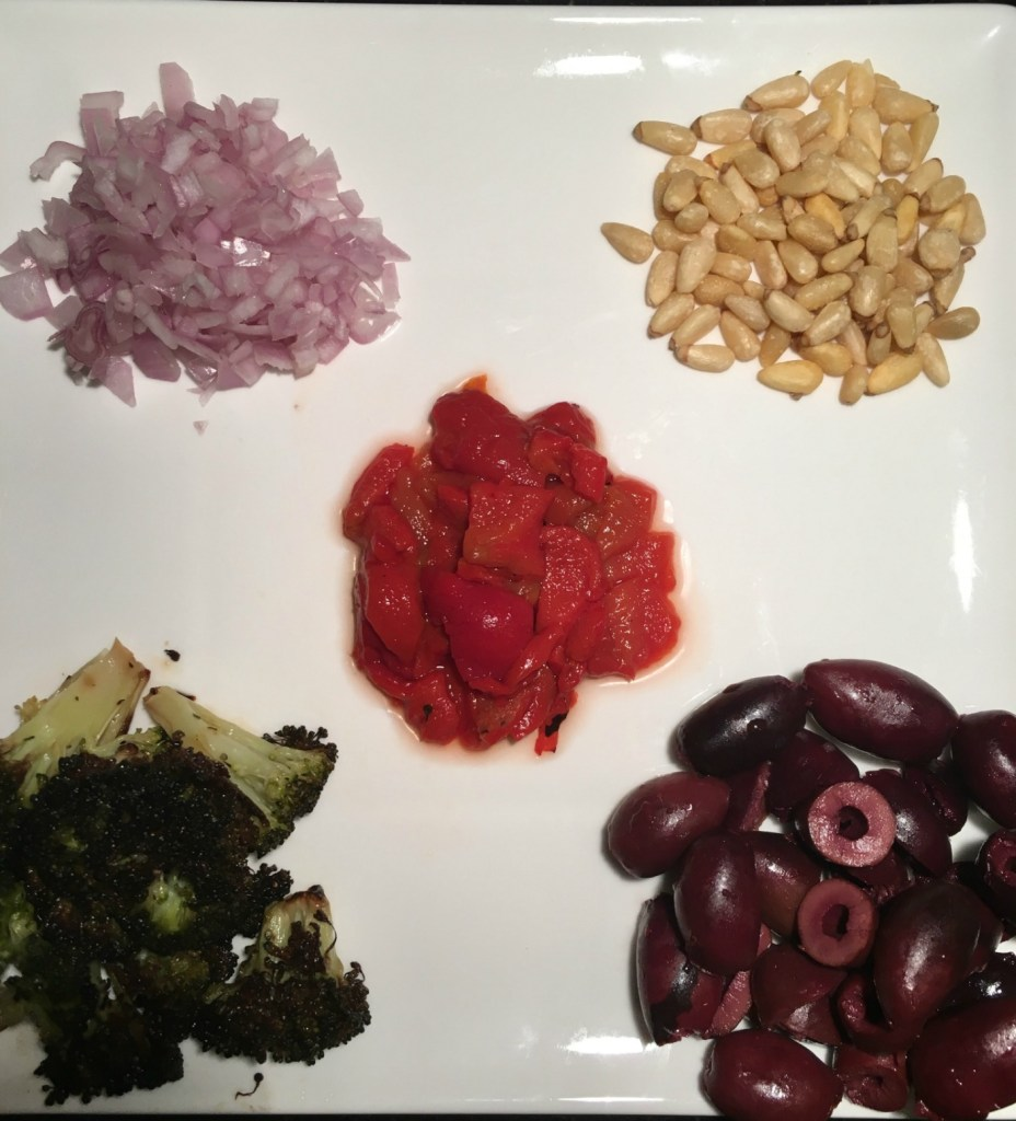 Mediterranean Quinoa with Kalamata Olives and Roasted Broccoli