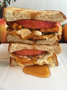 Roasted Squash and Apple Grilled Cheese Sandwich