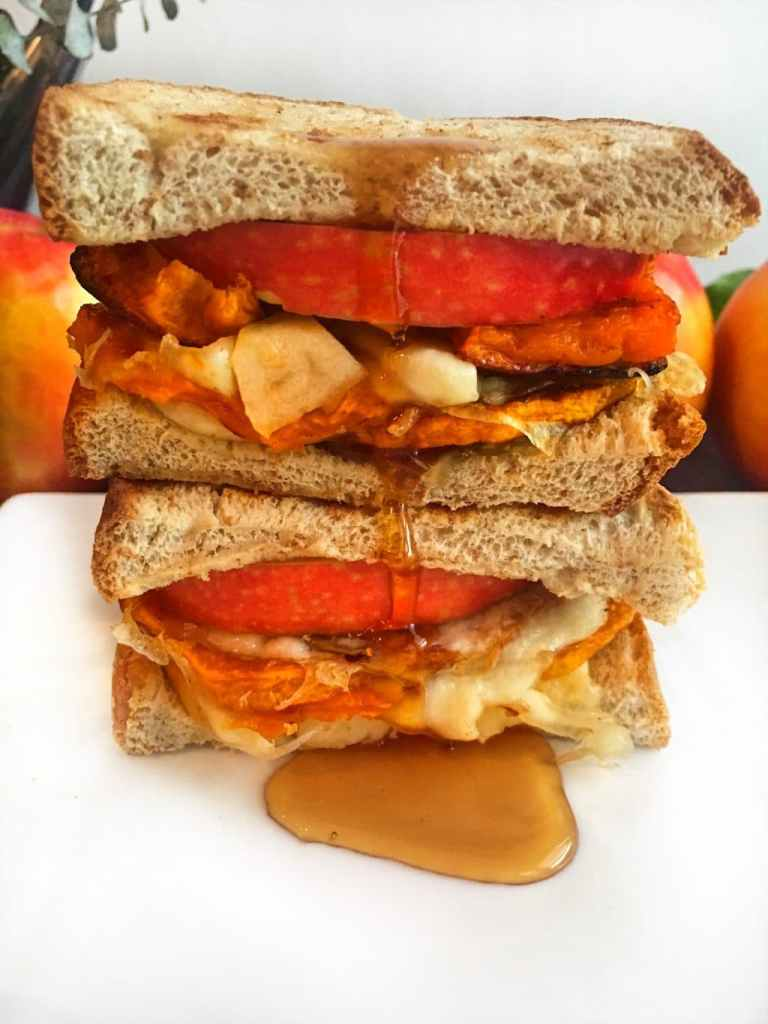 Roasted Squash Apple Grilled Cheese Sandwich