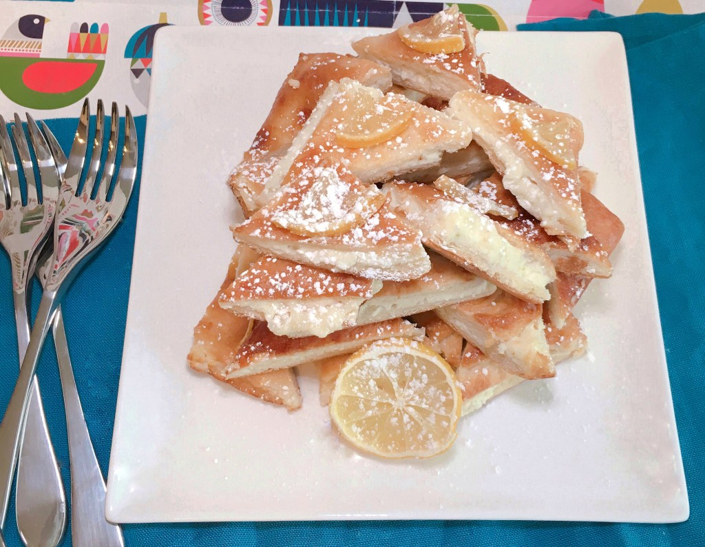 Lemon Zest Cream Cheese Pastry with Candied Lemon - Entertaining made simple with this light and fragrant lemon cream cheese pastry