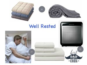 well rested dad ideas weighted blanket air purifier