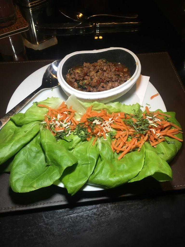 meat lettuce wraps bourbon steak