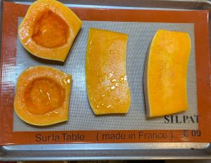 oiled squash for oven