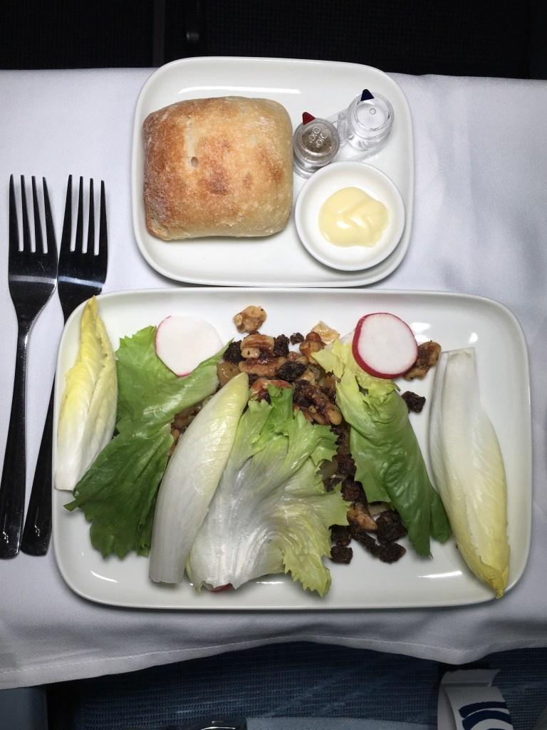 root vegetables served on plane Finnair