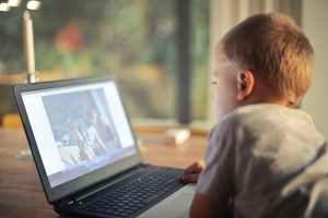 kids activity on computer