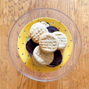 plate of peanut butter chocolate cookies