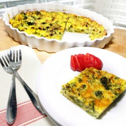 crustless quiche with serving