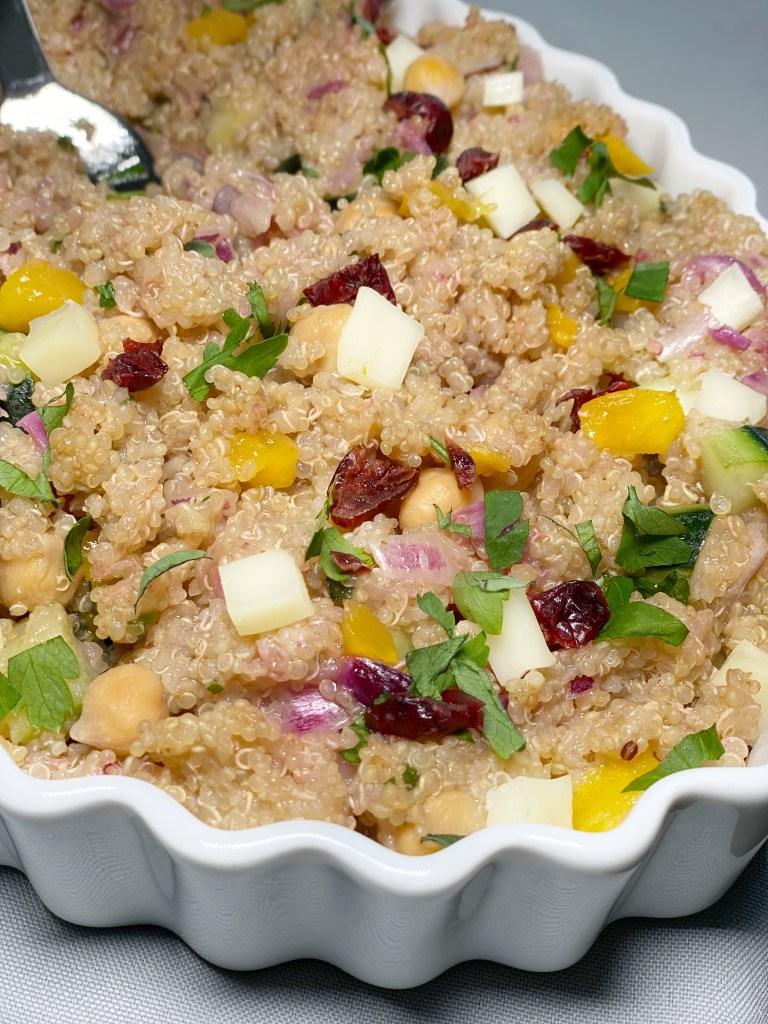 ingredients in summer quinoa salad