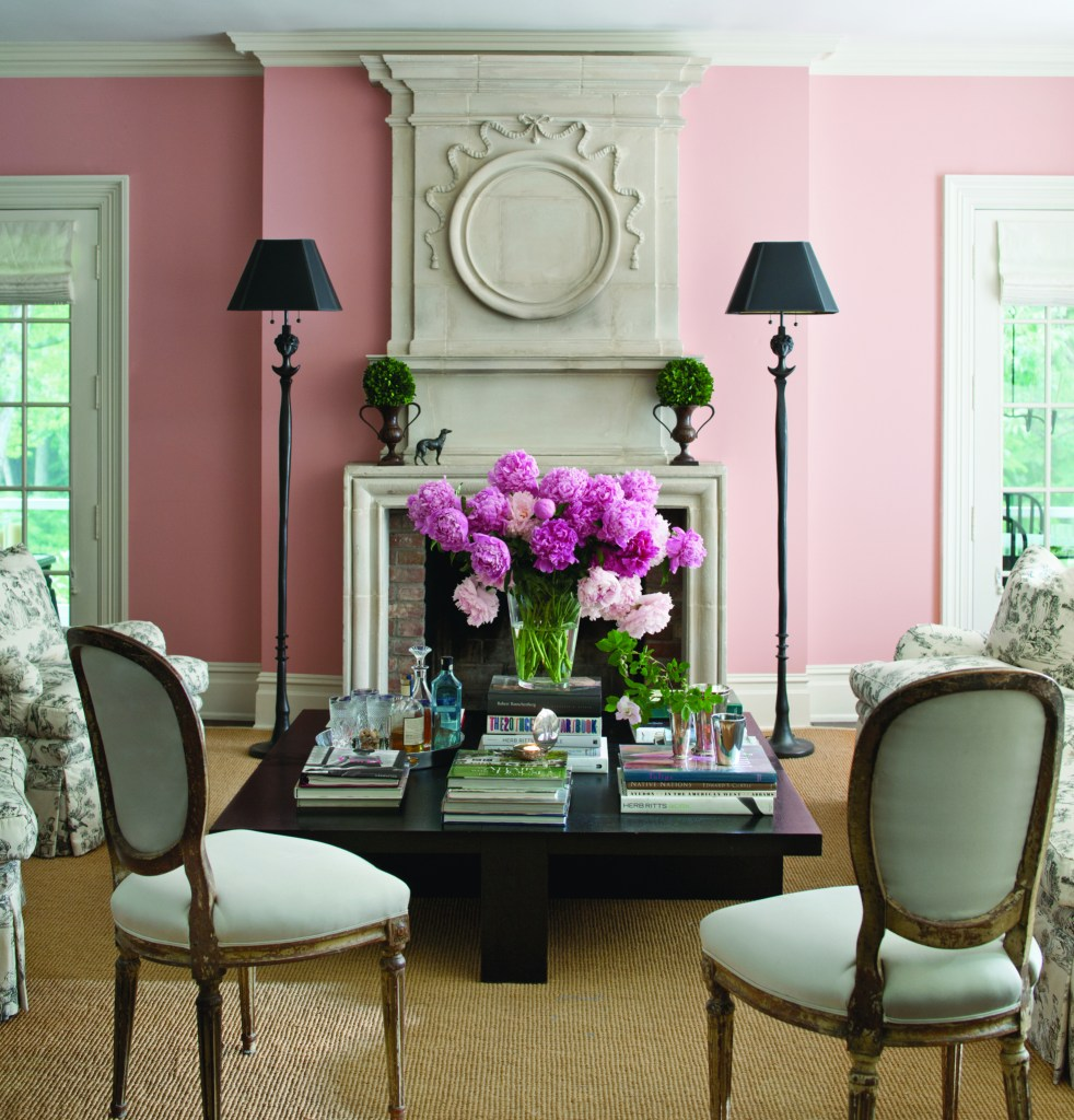 pink paint shade with light