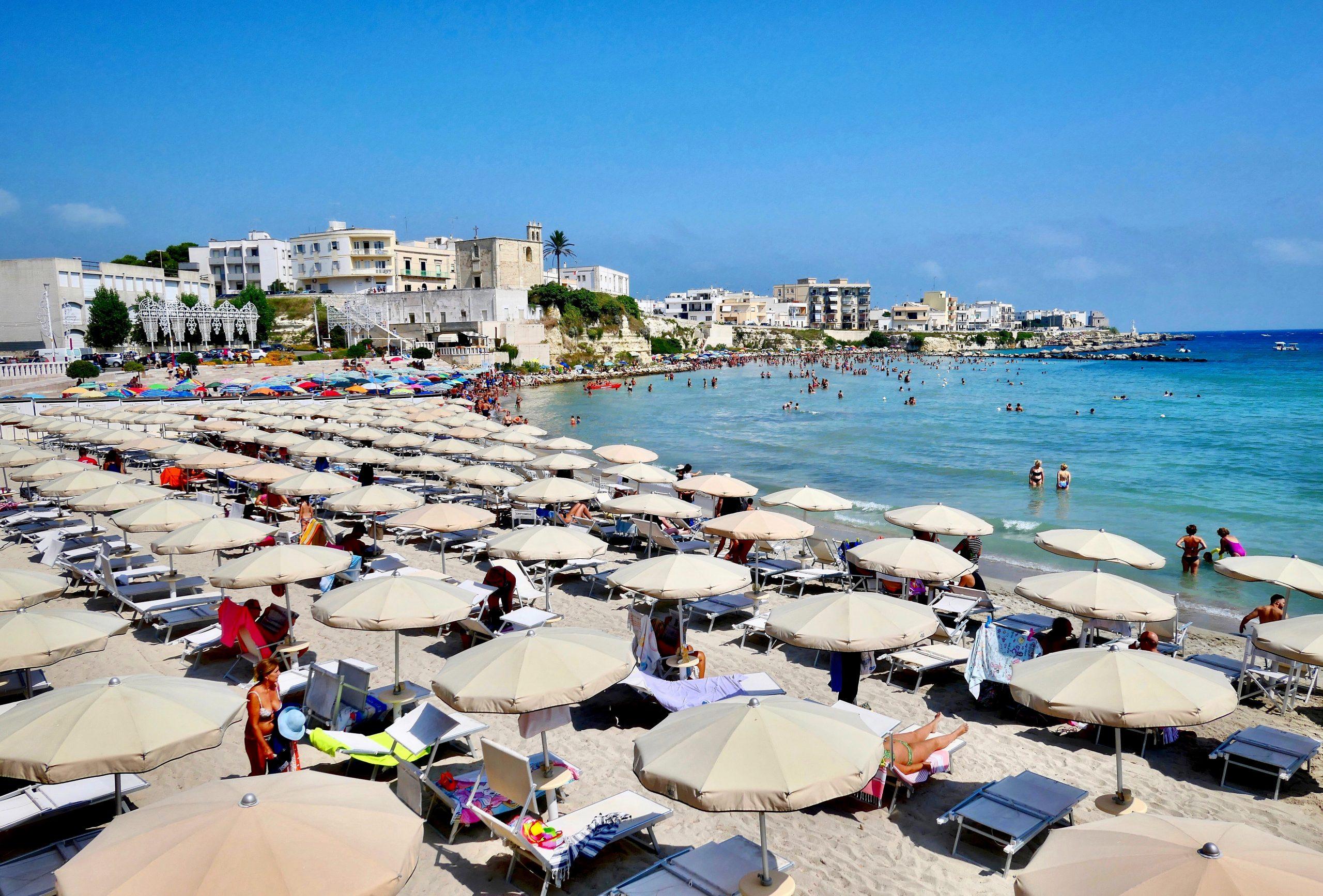 Beach view Puglia Italy