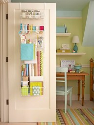 I'm a huge fan of this. Behind the door organization. What better way to make use of space that is rarely taken advantage of.