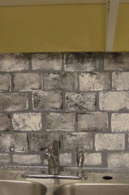 diy faux brick