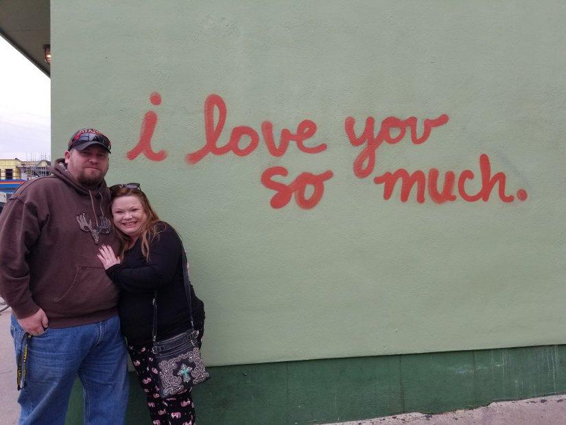 Art Mural in Austin - I love you so much
