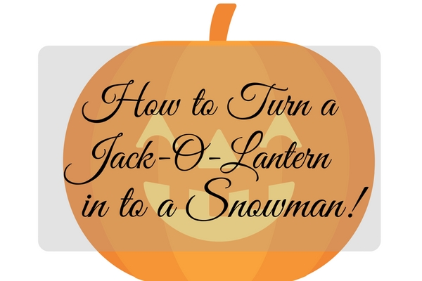 How to turn a Jack-O-Lantern in to a snowman