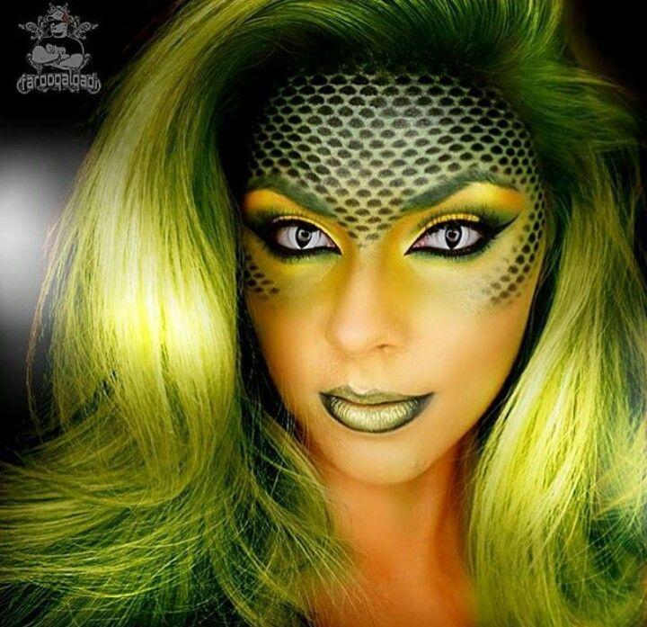 Halloween Makeup Snake
