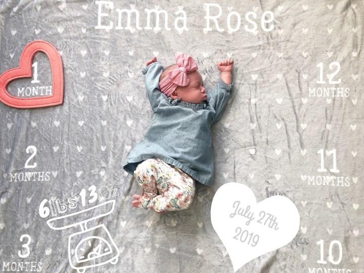 Emma's 1 Month Birthday