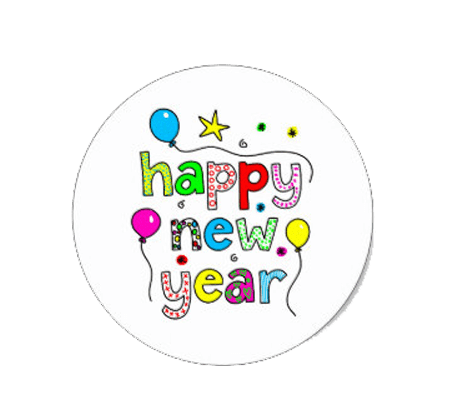 Happy New Year 2019 Stickers