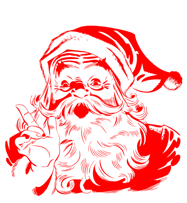 picture of santa claus face clipart