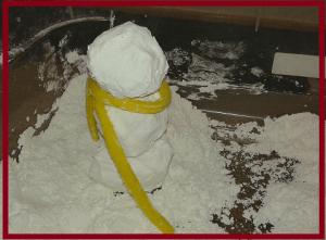 cornstarch snowman 1
