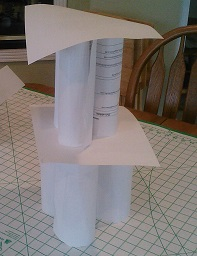 example cylinder paper tower