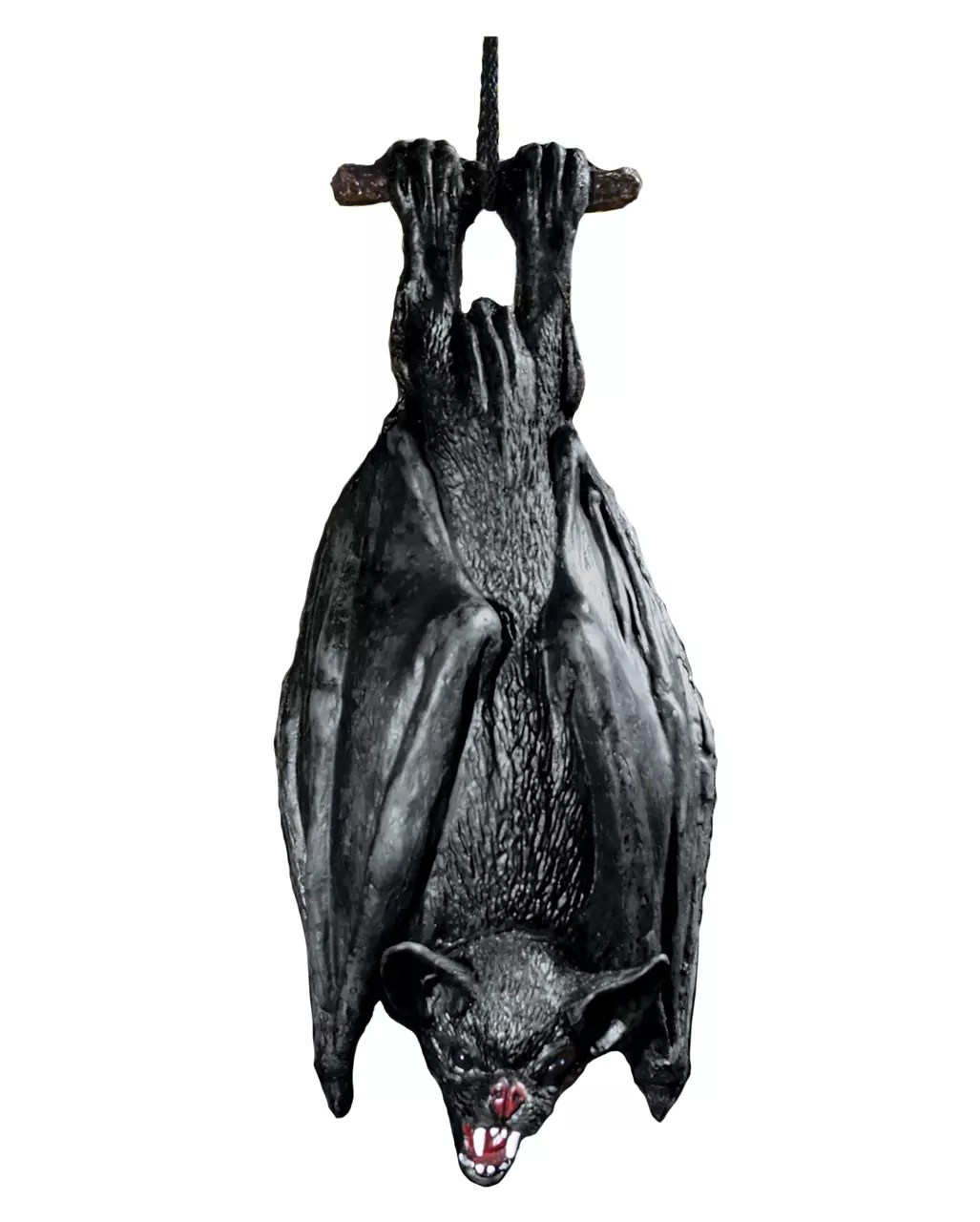 Hanging Bat Black 38cm Halloween Deco