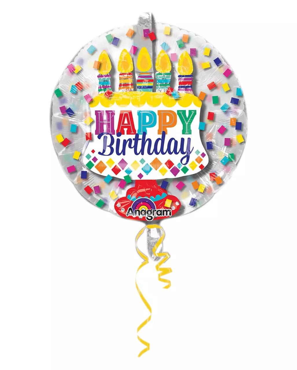 Happy Birthday Balloon In Balloon 60cm Horror Shop Com