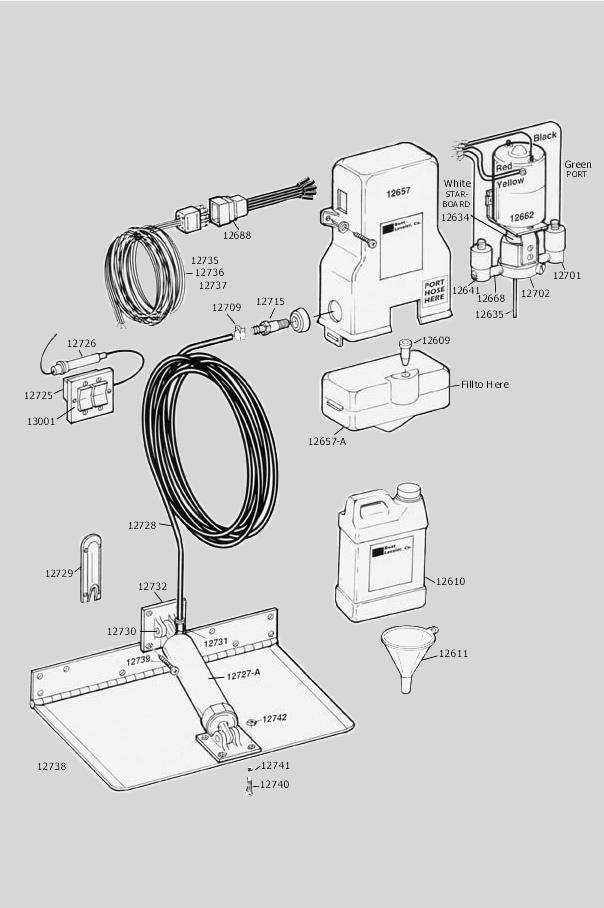 parts diagram insta trim boat levelers Boat Leveler Wiring Diagram