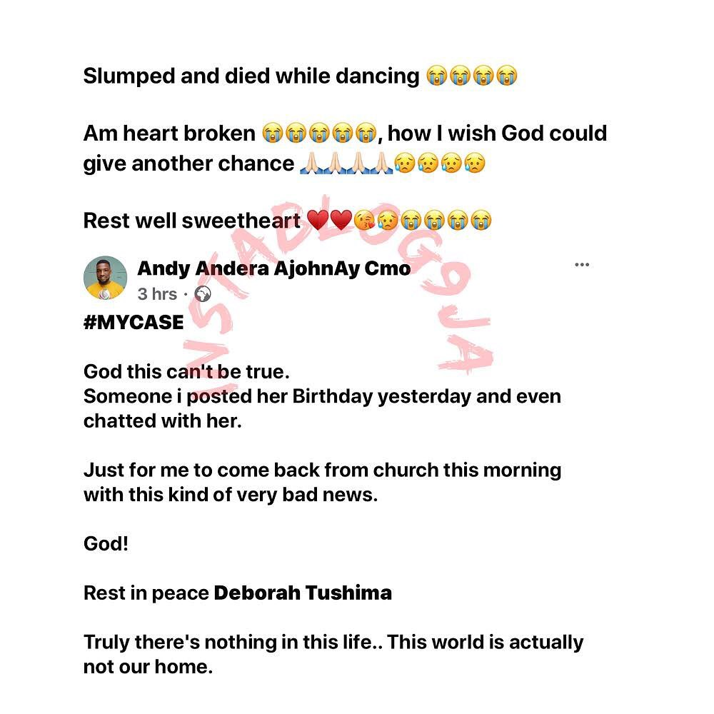 Makeup artist Deborah Tushima allegedly slumps and dies while dancing at her birthday party in Jos, Plateau State [SWIPE]