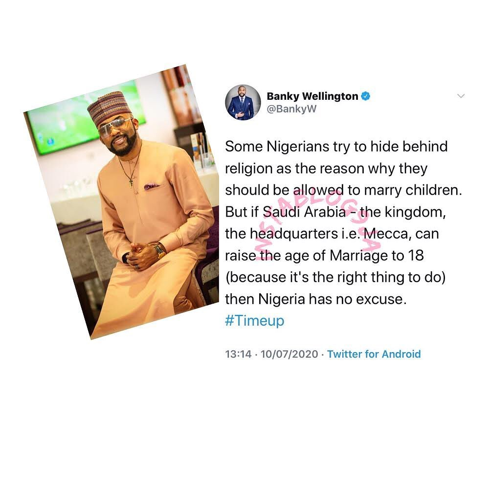 Nigeria must raise the age of marriage to 18 — Pastor Banky Wellington