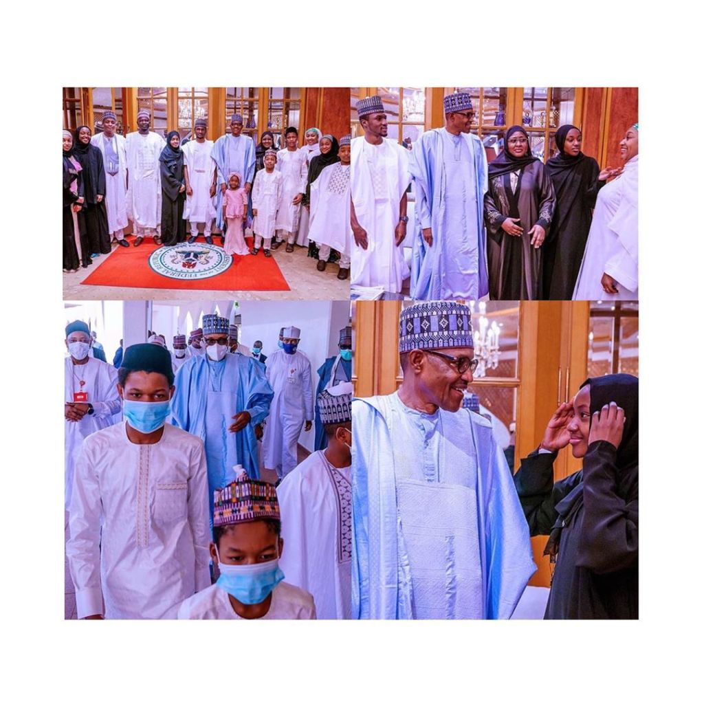 Buhari observes Eid-Kabir prayers with his family and aides in Abuja