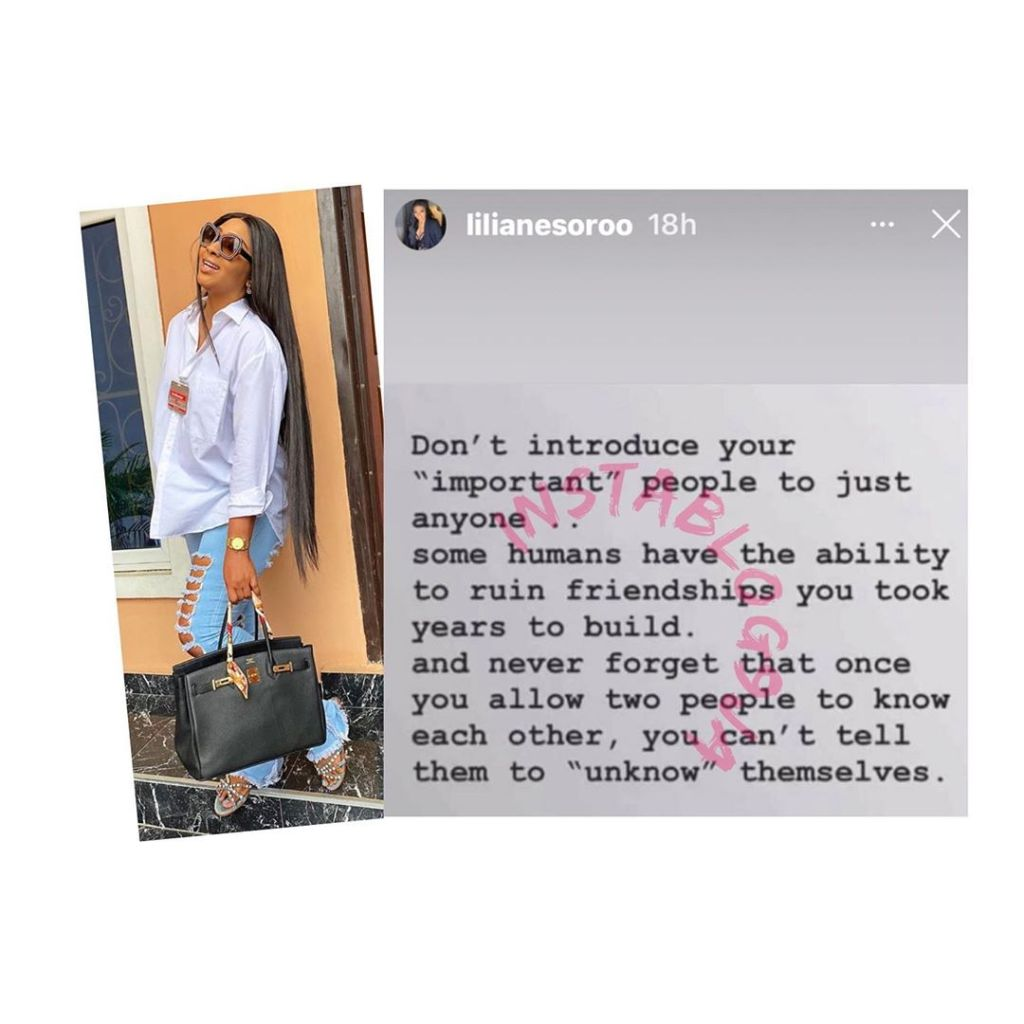 "Why you shouldn't introduce your ""important people"" to just anyone — Actress Lilian Esoro"