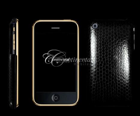 24k yellow gold black snakeskin apple 3gs iphone 3