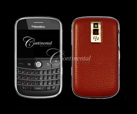 blackberry bold cherry red leather 24k yellow gold