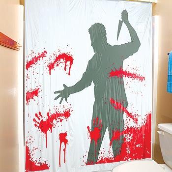 bloody serial killer shower curtain RU7Ed 3868