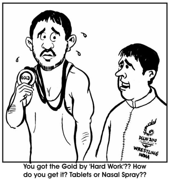 cartoon sushil kumar wins gold 5rvqS 34547
