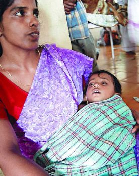 child infected by chikungunya