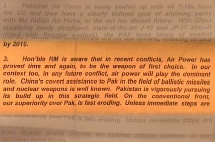 indian air force letter 26