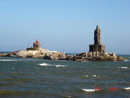 kanyakumari vivekananda rock statue ocean RPVI6 69