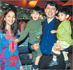 madhuri and family