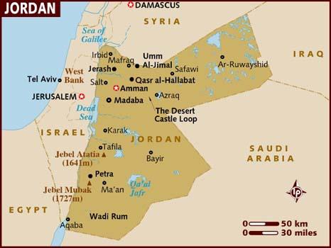 map of jordan MKSbB 19672