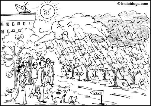 monsoon cartoon