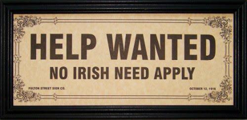 no irish need apply sign eCt7R 19672
