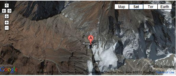Roopkund Google Map location