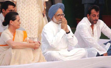 sanju with manmohan singh