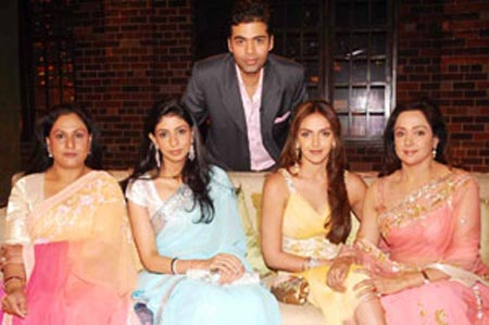 sholay ladies to sip koffee with karan 2282
