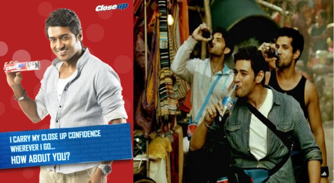 South Indian actors endorsing brands