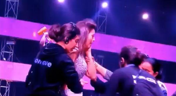 Gauhar Khan gets slapped on Reality Show