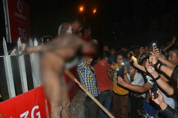 angry mob beat rape accused to death